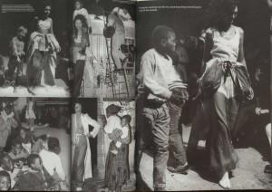 photographies prises lors du défilé printemps-été 1990, pages 92-93 dans 6+ Antwerp Fashion, MoMu et le Parlement Flamand, Ludion, Gand, 2007
